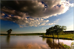 The beauty and sadness of our ponds (piontrhouseselski) Tags: water clouds evening tokina cz ponds moravia
