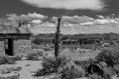Eden Creek Ranch (joeqc) Tags: ranch county blackandwhite bw white black mountains west abandoned blancoynegro monochrome clouds creek canon mono cowboy nevada nye nv eden stable 6d oncewashome