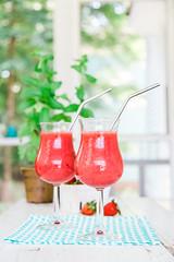 Frozen Strawberry Daiquiri (Pamela Greer) Tags: strawberries drinks rum cocktails daiquiri vitamix llifestyle frozendesserts