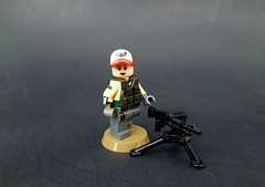 Day Two! (Dioniisus) Tags: female toy lego teen minifigure m60 brickarms modernmilitary