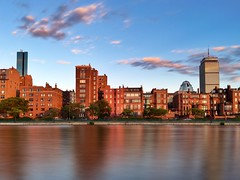 Back Bay iPhone Long Exposure ((Jessica)) Tags: longexposure sunset sky brick water boston architecture clouds golden skyscrapers massachusetts newengland lagoon esplanade slowshutter backbay goldenhour oldandnew pw iphone slowshuttercam slowshuttercamapp iphone6s