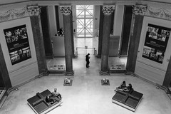 Museum moments (Remo Pomposini) Tags: city people italy rome museum architecture blackwhite moments citylife