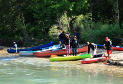 Preparing to Launch - Buffalo River Access at Ponca, Arkansas (danjdavis) Tags: canoes arkansas kayaks buffalonationalriver buffaloriver