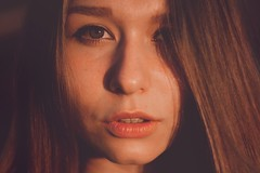 Kate (antonlebedev2) Tags: sunset shadow portrait girl face eyes emotion sight pure tenderness feelings helios