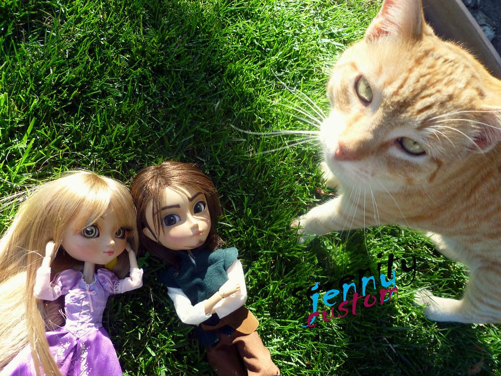 hello kitty serenity jenny tags green eye love fairytale cat fun toy toys - Raiponce Pascal