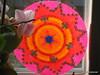 Hama Circle with fluorescent beads (petuniad) Tags: beads hama perler pärlplattor hamabeads perlerbeads strijkkralen bügelperlen buegelperlen