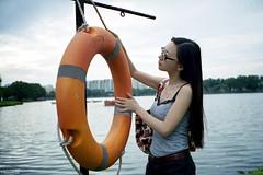 Eleanor (The91) Tags: leica sunset portrait lake color film 35mm singapore fuji summicron negative 400 sail pro eleanor m2 wy leicam2 fujicolor 400h summicronm leicasummicronm1235mm