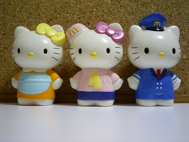 McDonalds Japan Hello Kitty, Daniel, Kitty chans Mom Figure SET Lot of 3 2003