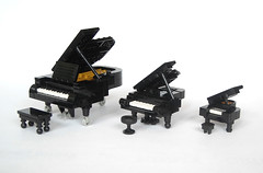 Grand Pianos (mijasper) Tags: music keyboard lego piano instrument musicalinstrument moc grandpiano keyboardinstrument