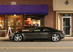 Fisker Karma outside Tapalaluna (wouldpkr) Tags: car il vehicle karma dekalb lincolnhwy fisker rt38 tapalaluna
