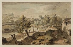 Italian landscape. William Taverner British 1700-1772. pencil watercolor 201x326mm. Tate Col. (tony harrison) Tags: italy watercolor italian paintings drawings etchings italianlandscapes italianlandscape18th19thcent