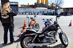 Brendan Surveys (Rachel Citron) Tags: nyc newyorkcity party drunk bash aperture parking longhair drinking motorcycles security queens foam jamaica harleydavidson mug nytimes gothamist brendan curbed stpatricksday celebrating stpats harleys easyrider hellsangels heyhotshot clubcolors 20x200 bikergangs thenytimes bikerfashion thelocaleastvillage manhattanusersguide