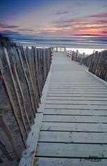 Formby Beach Walkway (Adam Kennedy Photography) Tags: sunset sun colour beach nature beautiful fence landscape wooden sand dunes walkway stunning merseyside formby sigma1020mm adamkennedy nikond7000