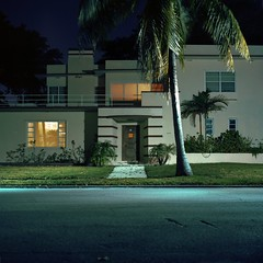 (patrickjoust) Tags: street city usa house color tree 120 6x6 tlr film beach home modern night analog america dark square lens 1 us reflex focus long exposure mechanical florida suburban kodak miami united release tripod north patrick twin cable fresh palm mat negative 124g after medium format suburb fl 100 states manual 80 joust yashica estados 80mm f35 ektar c41 unidos yashinon autaut patrickjoust