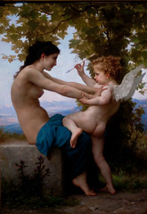 A Young Girl Defending Herself Against Eros, William Adolphe Bouguereau (1825-1905) (Tiz_herself) Tags: california art cupid gettymuseum museums bouguereau 2012 d300