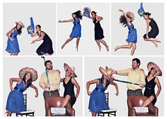 One Too Many Gin & Tonics (ygchan) Tags: california wedding friends me hockey goofy collage jump photobooth leg hats ucla montage sombrero left leftknee