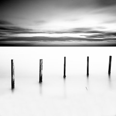 To infinite II (Massimo Margagnoni) Tags: world trip sea blackandwhite bw italy white black art 6x6 nature digital canon landscape long exposure poetry solitude italia mare alone photographer digitale natura hasselblad dreams 5d poesia minimalism minimalismo viaggi nero paesaggio biancoenero massimo 2012 mkii mondo lunghe esposizioni naturepoetry absoluteblackandwhite bestcapturesaoi margagnoni