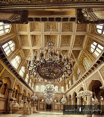 chowmahalla in all its glory (PNike (Prashanth Naik..back after ages)) Tags: roof light india building architecture hall nikon asia king sigma mahal palace chandelier hyderabad 1020mm pillars carvings throne intricate windos chowmahalla vertorama d7000 pnike
