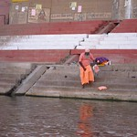 "Sadhu on the Ganges <a style=""margin-left:10px; font-size:0.8em;"" href=""http://www.flickr.com/photos/14315427@N00/6879430977/"" target=""_blank"">@flickr</a>"