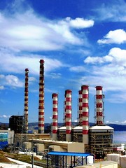 Lavrio (Eleanna Kounoupa (Melissa)) Tags: sky clouds smokestacks ppc     greecelavrion