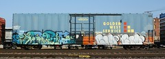 Baer/Home (quiet-silence) Tags: railroad art home train graffiti flat railcar boxcar graff freight baer goldenwest btr fr8 endtoend ssw e2e ssw28710