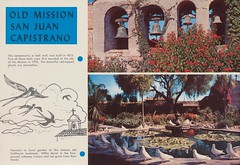 Old Mission San Juan Capistrano (The Cardboard America Archives) Tags: california travel vintage southern 1956 brochure pamphlet