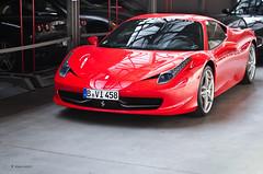 A red 458 (KlausKniehase / KneeRabbit) Tags: berlin italia ferrari 458