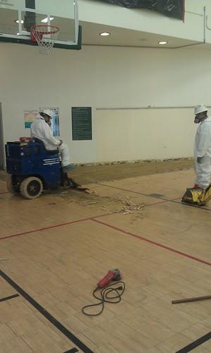 Photo - South Boulder Recreation Center Floor Replacement (Construction)