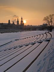 Winterhochdruck (thomasstache) Tags: winter sunset germany deutschland dresden sonnenuntergang sachsen innenstadt knigsufer
