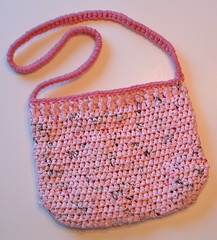 Lining the Pink Passion Plarn Purse