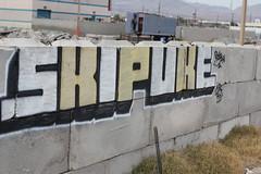 Skip. Puke (elkrustyone) Tags: vegas true wall train truck graffiti nevada hut kings hamburger only skip puke rockin tko kbs