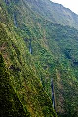 Kauai Waterfalls (ChrisInAK) Tags: hawaii adventure aerial brown green interior island kauai remote rock tourism travel tropical tropics vacation vegetation water waterfall
