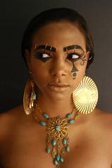 Sebek (DSuazoPhotography) Tags: black eye photo george model eyes paint eyelashes turquoise beetle egypt earring jewelry egyptian eyelash earrings nubia scarab eyeliner nubian suazo shalonda elliotsuazophotography shalondageorge