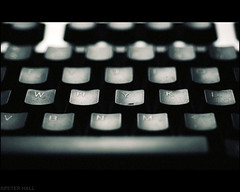 Why (peterphotographic) Tags: macro typewriter computer keys pc nikon keyboard dof letters depthoffield mysterious type why d200 macromondays camerabag2 whyed1cb2skateredwm