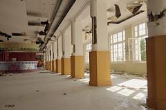 Salle à manger - Piliers pillés (B.RANZA) Tags: trace histoire waste sanatorium hopital empreinte exil cmc patrimoine urbex disparition abandonedplace mémoire friche centremédicochirurgical