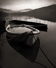 HEAVY WATER (explore) (kenny barker) Tags: winter water sepia dark landscape lumix dawn scotland loch lochard dockbay kinlochard stealingshadows landscapeuk panasoniclumixgf1 welcomeuk kennybarker
