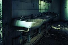That Sinking Feeling (murphyz) Tags: london abandoned train bathroom photography sink tiles urbanexploration depot sickness grime derelict washroom urbex murphyz