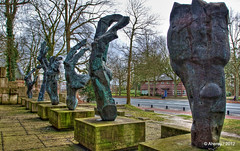 Joods Monument,Heereweg ,Groningen stad,the Netherlands,Europe (Aheroy(2Busy)) Tags: street city trees holland netherlands dutch statue architecture clouds fun town europe colours different arts nederland surreal hallucination groningen stad beautifull 2ndworldwar oorlogsmonument tonemapped 2ndww singlerawhdr heereweg aheroy aheroyal joodsmonument beautifulgroningen eduardwaskowsky