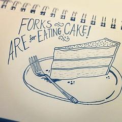Marchdoodleaday : Fork (ello lovey) Tags: cake illustration square dessert typography eating fork doodle squareformat walden handlettering iphoneography instagramapp uploaded:by=instagram