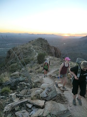 1203 Last Push (c.miles) Tags: sunset alison santacatalinamountains blackettsridge danacaraway meganhaigh