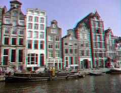 Herengracht Amsterdam 3D (wim hoppenbrouwers) Tags: holland amsterdam canal 3d anaglyph stereo herengracht gracht redcyan grachtpanden
