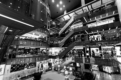 Paragon. (adrianishikawa) Tags: road bw white black canon shopping eos singapore mark centre orchard ii 5d usm ef 1740mm f4 paragon wow1 adrianishikawa