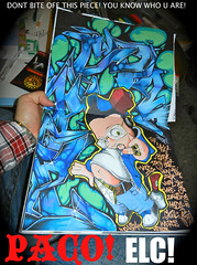 PACO ELC (iCKY*(R.I.P TOWN*)( EVIL LETTERS CREW *) Tags: new york black art brooklyn work one graffiti book sketch fight elc letters stickers nj evil battle el pa crew philly graff zig paco icky bk blackbook fights phily ikki icki paco1 ickyone icky1 elc1134 sypfer