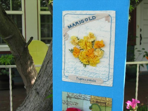 Vintage Seed Packet Wall Art (marigold detail)