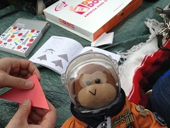 We brought space origami to keep us busy (thinkgeekmonkeys) Tags: nasa shuttle discovery thinkgeek udvarhazy ov103 spottheshuttle