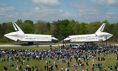 Space Shuttle Discovery Arrives at Udvar-Hazy (201204190016HQ) (NASA HQ PHOTO) Tags: usa virginia va enterprise discovery spaceshuttle chantilly institution stevenfudvarhazycenter nasasmithsonian carolynrusso