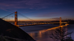 Golden Dawn (Eric Dugan) Tags: sanfrancisco california dawn coast twilight nikon sanfranciscobay bluehour marinheadlands d600 golengatebridge