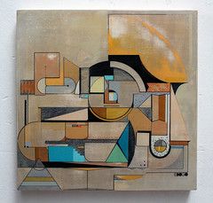 Consola central de mandos (www.spogo.es) Tags: wood art geometric painting madera acrylic spray depth pintura acrilico spogo
