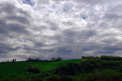 Spring particular (Uscè (OFF,OFF!!!!!)) Tags: friends light sky italy panorama tree green texture nature colors skyline clouds landscape photo spring nikon europe country perspective marche jesi eugenio staffolo coppari paesaggimarchigiani uscè infinitexposure