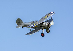 GLOSTER GLADIATOR MK I K7985 (David Feuerhelm) Tags: sky nikon fighter aircraft bedfordshire historic airshow nikkor shuttleworth biplane warplane gladiator areoplane d7100